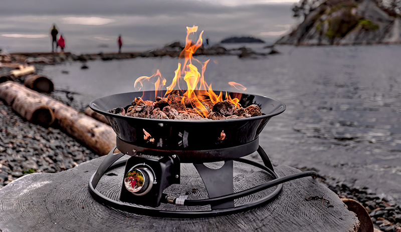 The Outland Firebowl Propane Fire Pit Makes Fire Portable